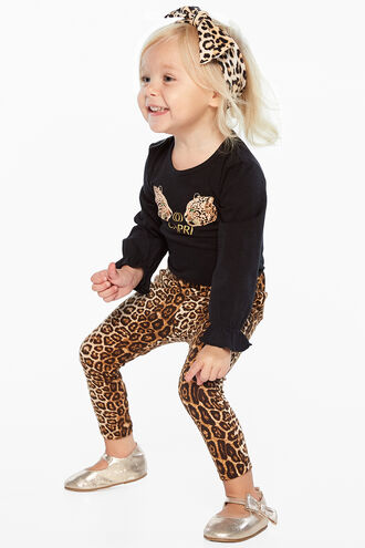 LEOPARD LEGGING in colour BEIGE
