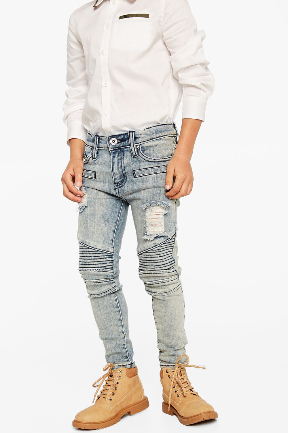 OLI ZIP JEAN in colour CITADEL