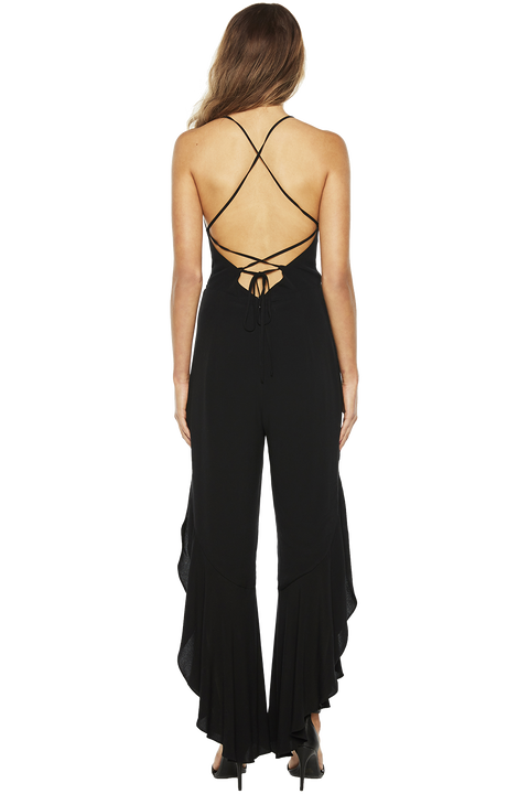 LINDY JUMPSUIT in colour CAVIAR