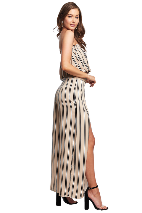 MEGAN STRIPE PANT in colour MOONLIGHT