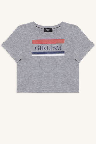 GIRLSIM TEE in colour MOONBEAM