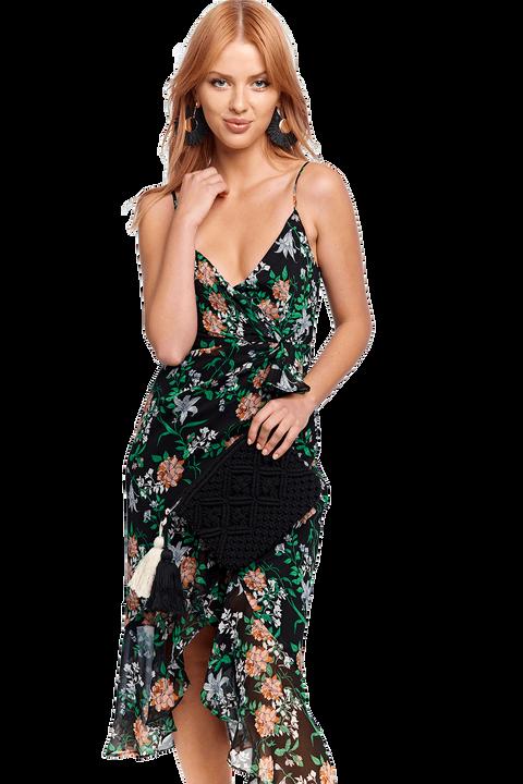 ELLE MAXI DRESS in colour CAVIAR