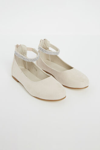 DIAMANTE BALLET FLAT. in colour MOONLIGHT