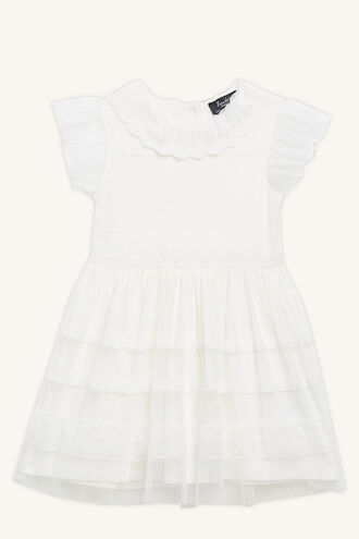 WILLA MESH DRESS in colour CLOUD DANCER