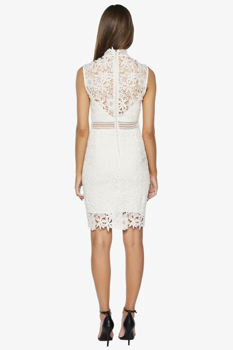 PARIS LACE DRESS in colour CLOUD DANCER