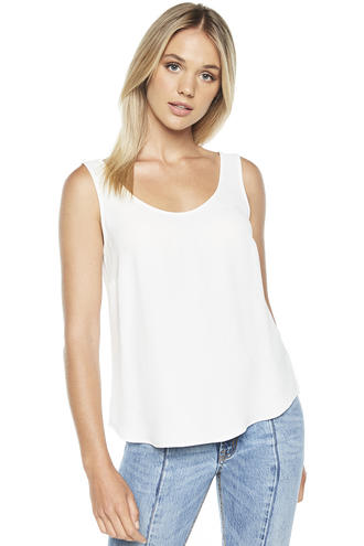 WOVEN RIKKI TANK TOP in colour CLOUD DANCER