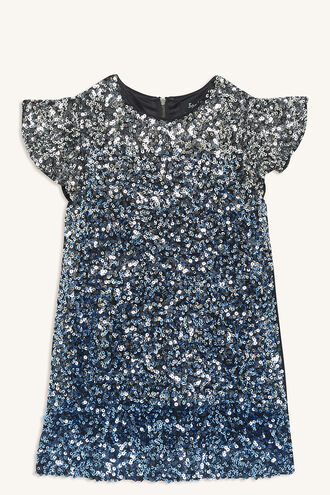 SELMA SEQUIN DRESS in colour MARINA