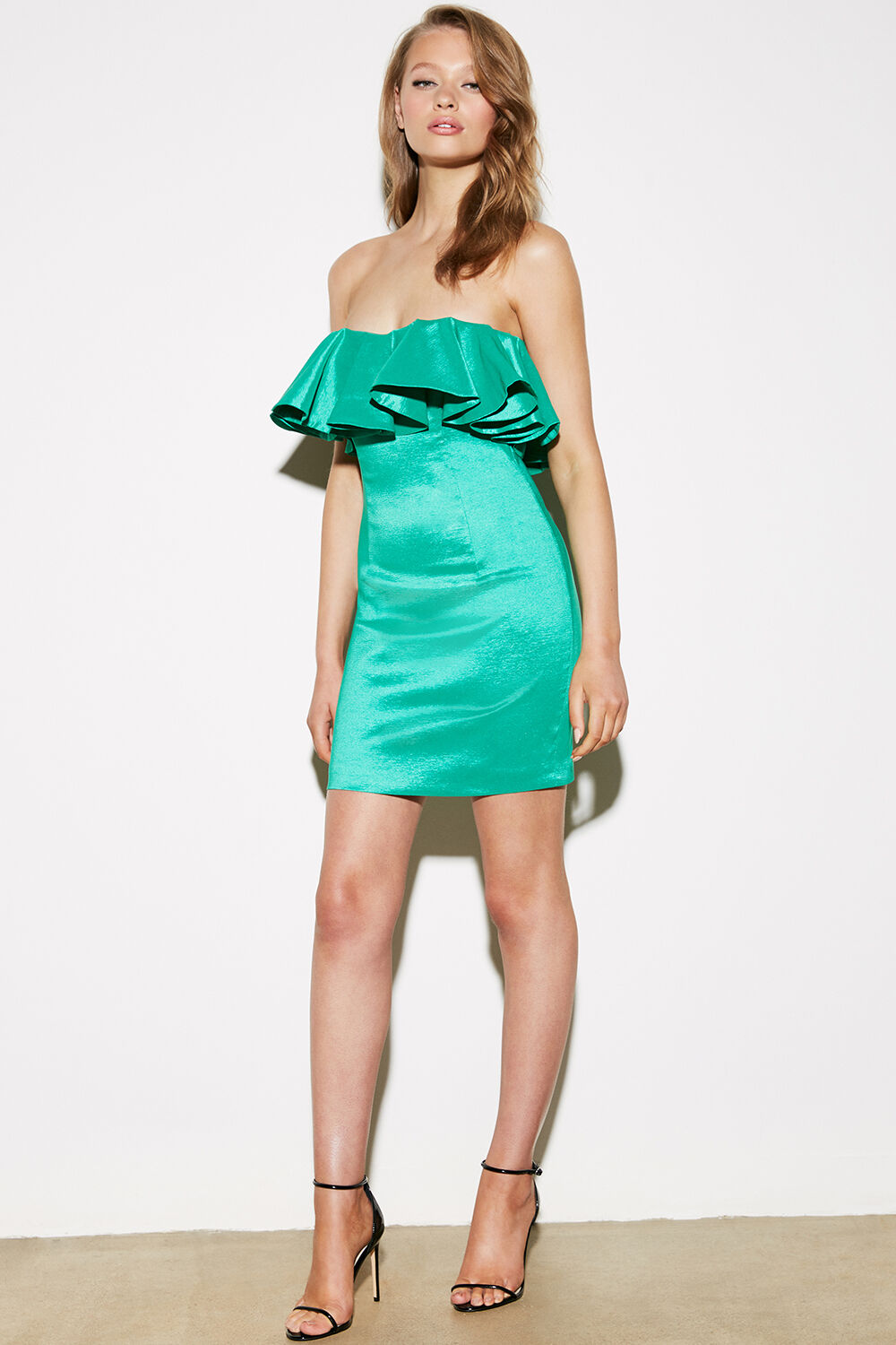 LULU MINI DRESS in colour BOSPHORUS