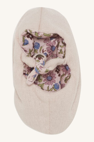 IRIS DITZY LINEN SLIPPERS in colour PINK CARNATION