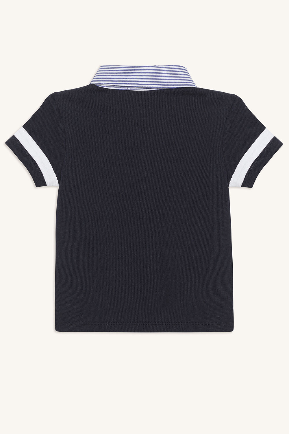 VARSITY POLO TEE in colour DRESS BLUES