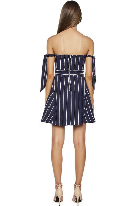 LAYLA STRIPE DRESS in colour PEACOAT
