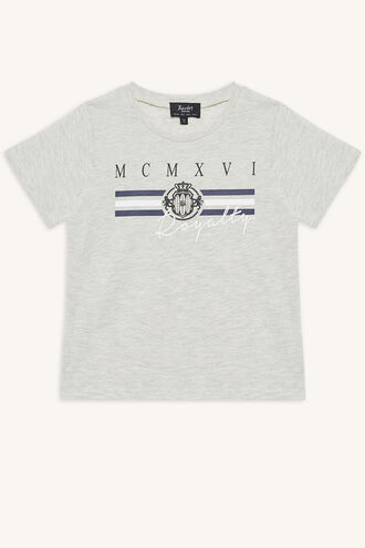 ROYALTY TEE in colour OATMEAL