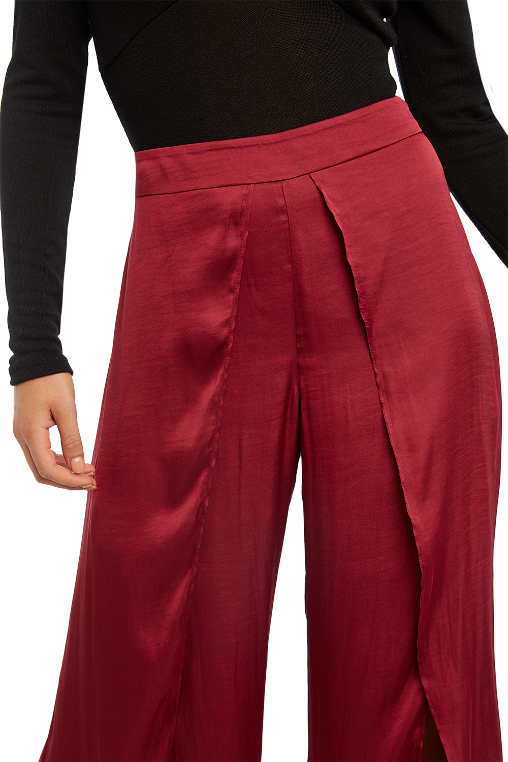 KAYLAH PETAL PANT in colour DRY ROSE