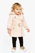 QUILTED COAT in colour PEACH BLUSH