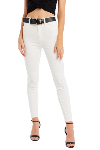 KHLOE SUPER HIGH JEAN in colour SNOW WHITE