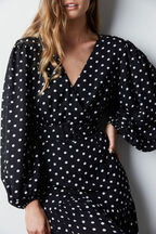 SPOT MAXI DRESS in colour JET BLACK