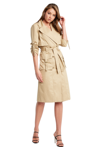BILLIE TRENCH in colour BEIGE