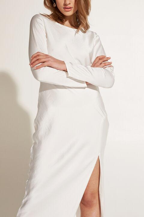 RIVER BIAS DRESS in colour BRIGHT WHITE