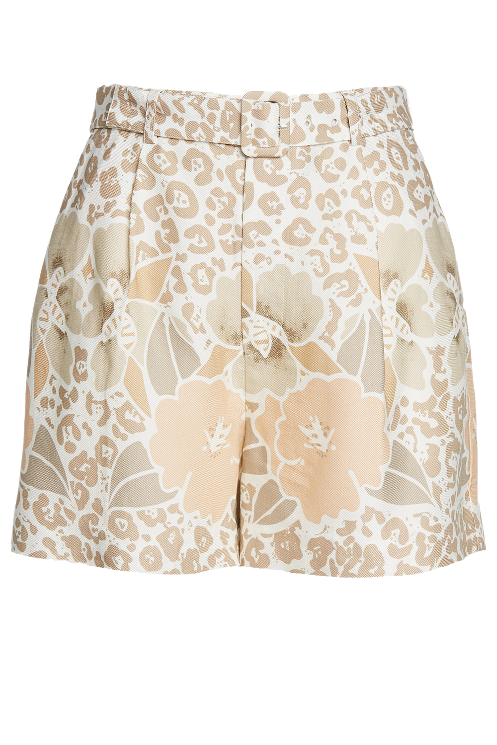 LEOPARD FLORAL SHORT in colour VANILLA CUSTARD