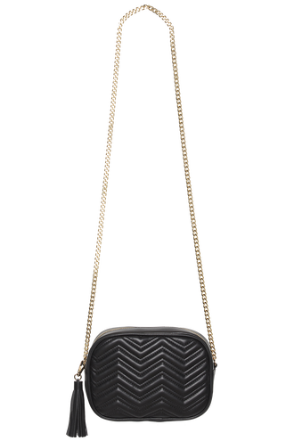 QUILTED HIP BAG in colour METEORITE