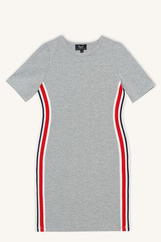 CECILY RIB TEE DRESS in colour MOONBEAM