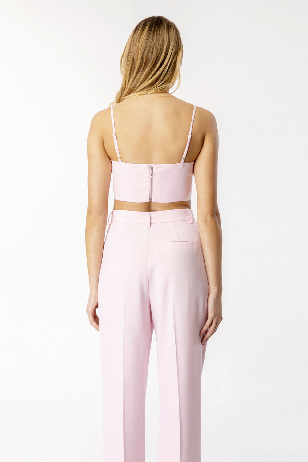 ATHENA CROP TOP  in colour SOFT PINK