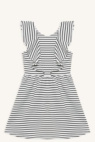 STRIPE FLARE DRESS in colour BRIGHT WHITE
