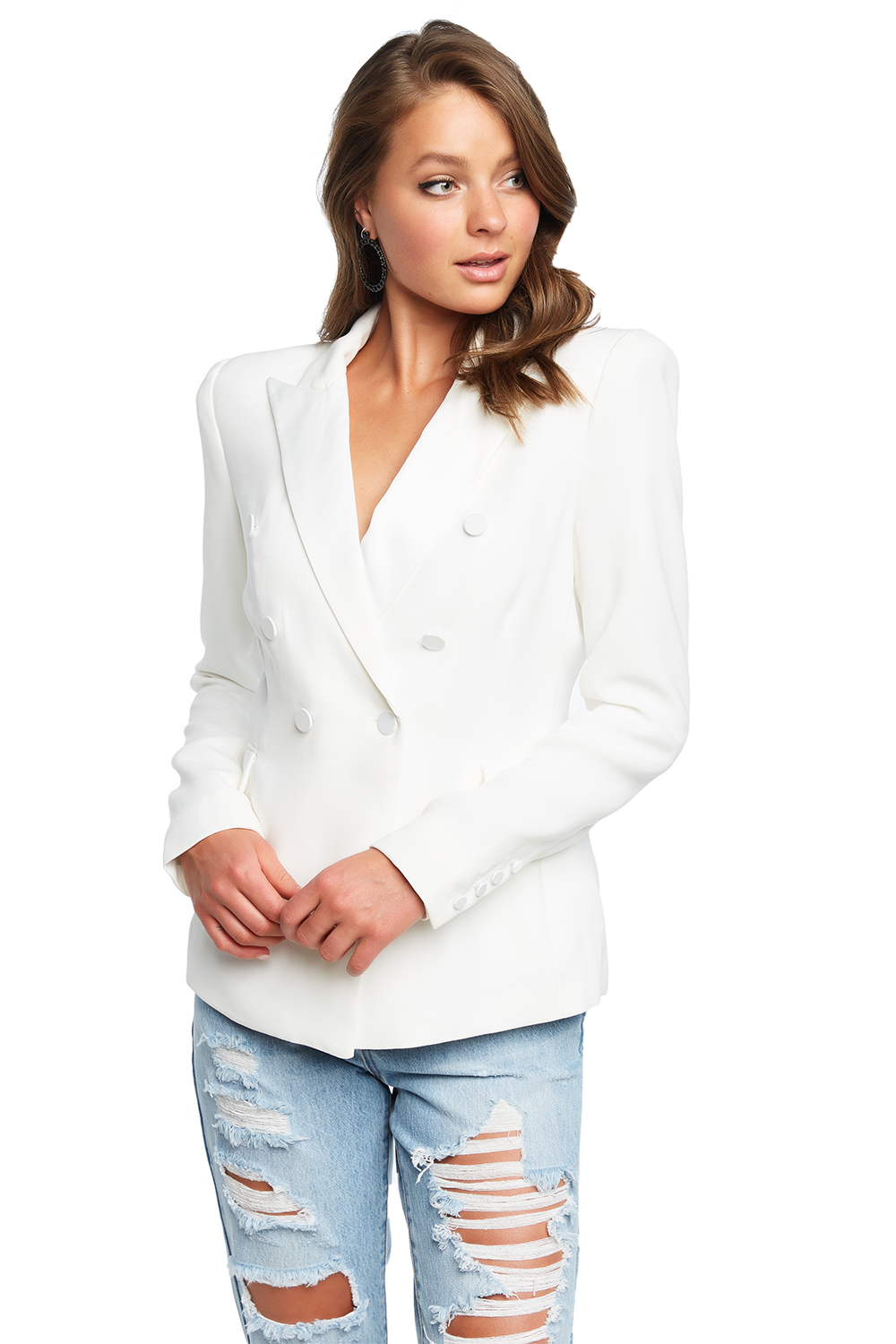 TUXEDO JACKET in colour BRIGHT WHITE