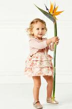 BABY GIRL INEZ BOLERO CARDI in colour PEACH PARFAIT