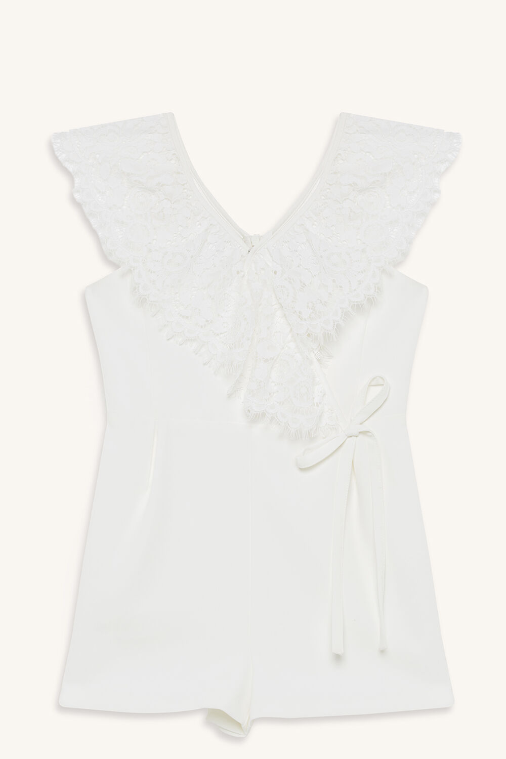 PENELOPE PLAYSUIT in colour CLOUD DANCER