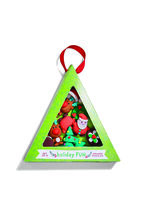 Xmas Eraser 6Set in colour BRIGHT WHITE