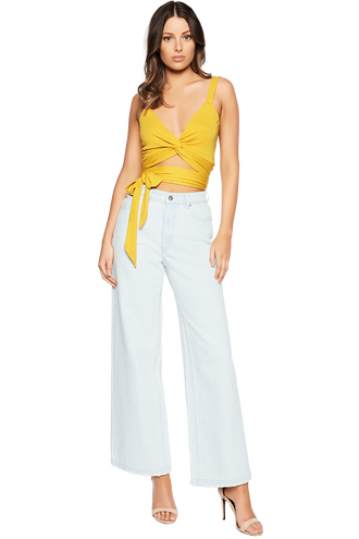 TWIST TIE CAMI in colour MISTED YELLOW