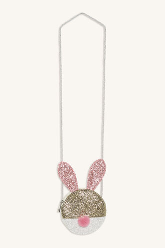 BUNNY GLITTER BAG in colour GOLD EARTH