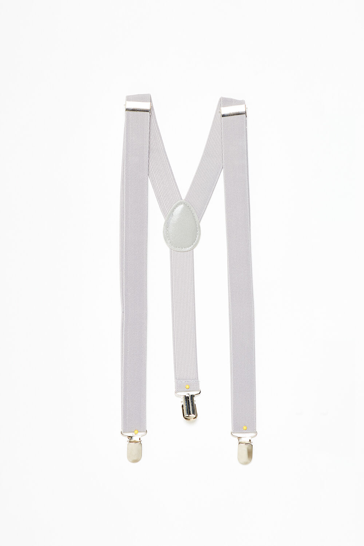 LIGHT GREY BRACES in colour WHITE ALYSSUM