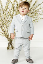TEXTURED SUIT PANT in colour FROST GRAY