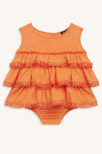RA RA SLUB KNIT GROW in colour MANDARIN RED