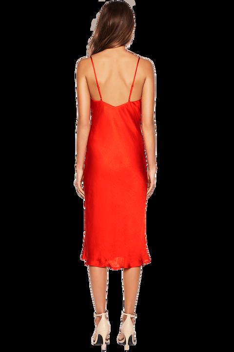 SLIP DRESS in colour FIESTA