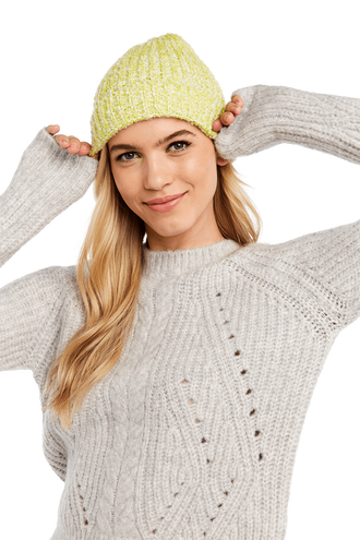 DOUBLE KNIT BEANIE in colour JASMINE GREEN