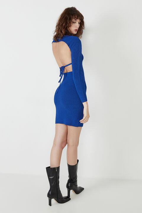 ELIN BACKLESS DRESS in colour BLUEBIRD