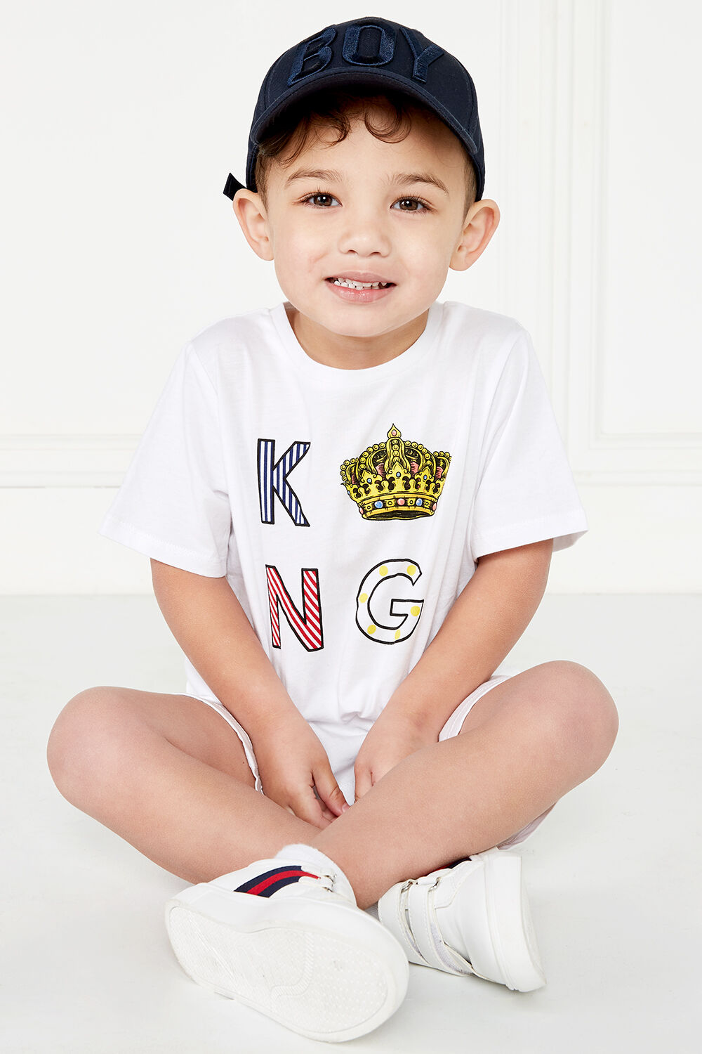 MERRY KING TEE in colour BRIGHT WHITE