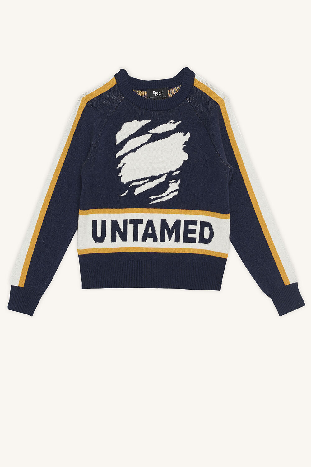 UNTAMED KNIT SWEATER in colour BLACK IRIS