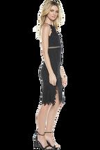 TABYTHA HALTER DRESS in colour CAVIAR
