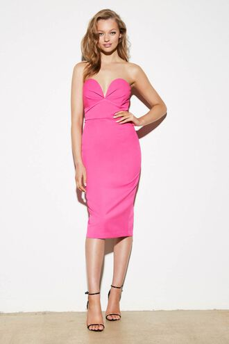 KAYLA MIDI DRESS in colour BEETROOT PURPLE