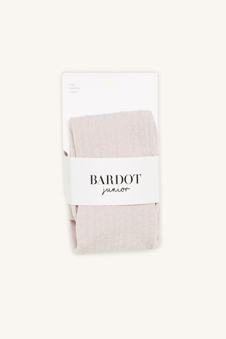 BABY COTTON CABLE TIGHTS in colour PINK CARNATION