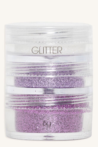 STACK GLITTER 3 PACK ASSORTED in colour BRIGHT WHITE