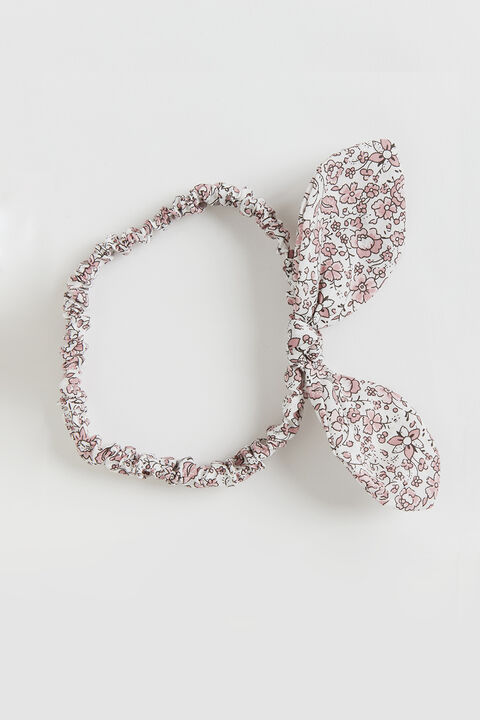 PINK DITSY HEADBAND in colour CAVIAR