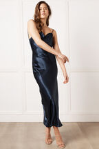 ESTELLE DRAPE DRESS in colour BLACK IRIS