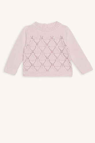 ASHER BOBBLE KNIT in colour PEARL BLUSH