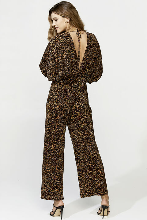 LEOPARD PANTSUIT in colour BEIGE