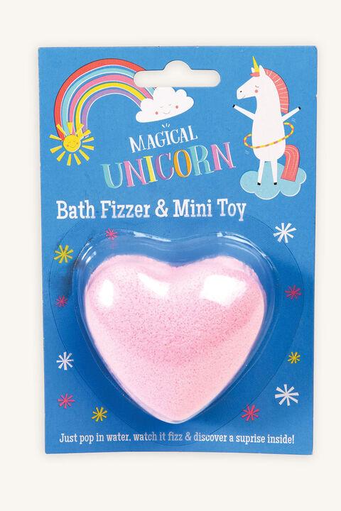 BATH FIZZER - UNICORN in colour PINK CARNATION
